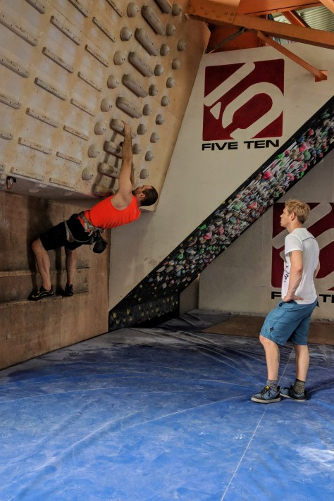 Training session at Awesome Walls, Sheffield