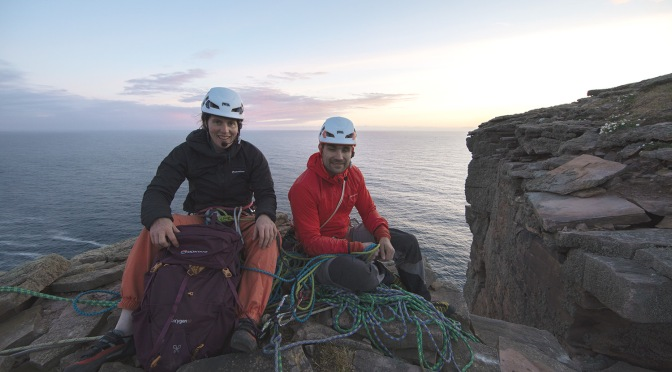 Getting down off the Old Man of Hoy